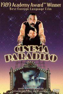 Cinema Paradiso est un film italien réalisé par Giuseppe Tornatore, sorti en 1989, avec Philippe Noiret. À Rome, à la fin des années 1980, Salvatore, cinéaste en vogue, vient d'apprendre la mort de son vieil ami Alfredo. Avec le souvenir d'Alfredo, c'est toute son enfance qui remonte à la surface : son village natal, en Sicile, quand on l'appelait Toto et qu'il partageait son temps libre entre l'église (où il était enfant de chœur) et la salle de cinéma paroissiale, où régnait Alfredo, le…