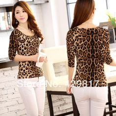 Aliexpress.com : Buy 2014 New Brand Korean Style Women's Fashion T shirts / Girls Slim Thin Long sleeved Leopard T shirt Cotton Primer Shirt / A101 from Reliable shirt jackets for men suppliers on View China   Alibaba Group