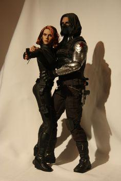 Bucky And Natasha, Best Action Figures, Black Widow Winter Soldier, It Movie Cast, Marvel X, Natasha Romanoff, Bucky Barnes, Marvel Cinematic Universe, Scarlett Johansson