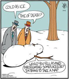Rubes (Mar/06/2015) Xmas Jokes, Christmas Jokes, Christmas Cartoons, Fun Jokes, Christmas Doodles, Snowman Jokes, Snowman Cartoon, Cartoon Jokes, Funny Cartoons