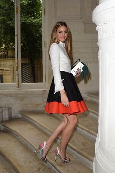 Olivia Palermo: Valentino Fall 2014 Haute Couture show in Paris