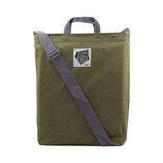 Cross Over Large Shoulder Bag Olive