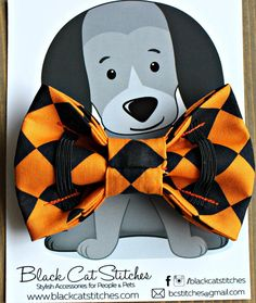 Pajarita de Halloween para mascotas Arlequín corbatín para