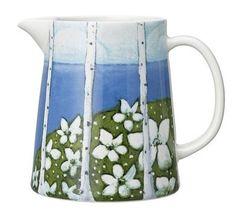 Arabia, Heljä-valikoima - Finnish desing - love this Ceramic Tableware, Ceramic Art, Kitchenware, Simple Geometric Designs, Country House Design, Marimekko, Tile Art, Danish Design, Drinking Tea
