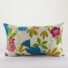 Bird of Paradise Wide Lumbar Pillow Accent Pillows, Throw Pillows, Fabric Rug, World Market, Beautiful Christmas, Lumbar Pillow, My Dream Home, Decorative Pillows, Cushions