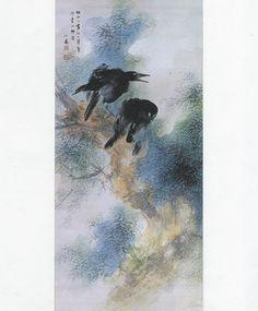 竹内栖鳳(Takeuchi Seiho 1864ー1942)    「驟雨一過(After a Shower)」(1935)