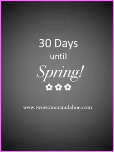 spring countdown!