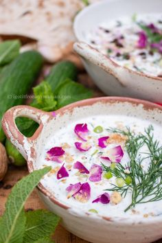 Ab Doogh Khiar is a refreshing yogurt soup with cucumbers, herbs, raisins and walnuts. We dunk pieces of bread in it, making the soup nice and filling without being too heavy. It's the ideal lunch or dinner for hot summer days.  #persianrecipes #persianfood #summerrecipes Piece Of Bread, Iranian, Raisin, Summer Recipes, Summer Days, Persian, Yogurt, Abs, Soup