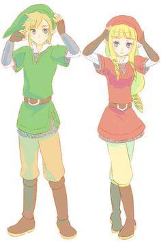 Link and Zelda (Twins CX)
