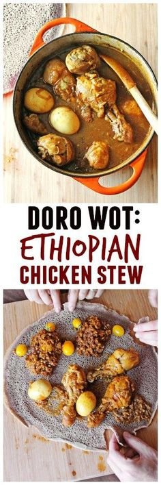 Doro wot is a rich and flavorful spicy chicken stew, and the most widely recognized Ethiopian dish made with berbere and hard boiled eggs. Learn how to make this recipe at home!