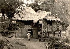 Filipino home, Philippines, before 1929 Philippines Culture, Manila Philippines, Filipino Architecture, Philippine Architecture, Cannabis Wallpaper, Bahay Kubo, Filipino Culture, Ancient Beauty, History Facts
