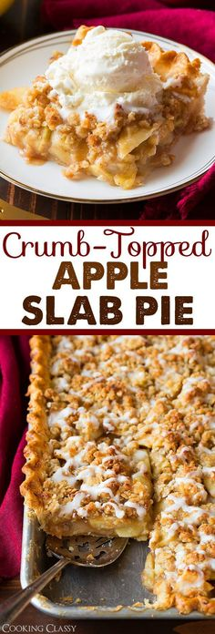 Crumb-Topped Apple Slab Pie - Perfection! Three layers of deliciousness. Loved this pie!
