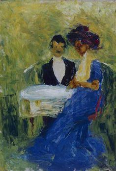 """Herr und Dame"" (In July 2014 painting was stolen by two drunken German students), Emil Nolde"