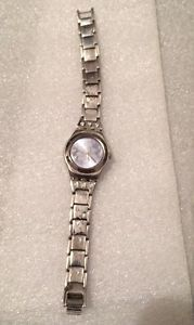Swatch 2006 Collection Irony Women 039 s Watch Flower Crystal Steel Band Analog   eBay