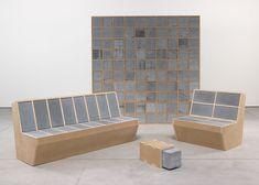 Sarah Lucas concrete and MDF furniture for Sadie Coles