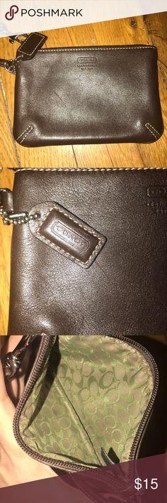 Coach Wristlet EUC Coach Wristlet Dark Brown Leather Vintage  MSRP $78 Coach Bags Clutches & Wristlets