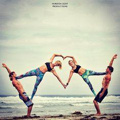Group acro yoga love