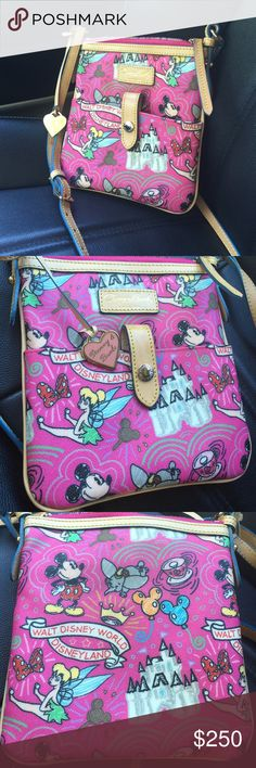SALEDisney Dooney and Bourke Crossbody Small MM Sketch Letter Carrier, Disney Dooney and Bourke not sold in park anymore. Like new in mint condition. Dooney & Bourke Bags Crossbody Bags