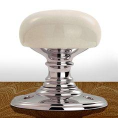 DK34PWCP Delamain Porcelain Mortice Knob Handles | Ball Type Handles. #doorballhandle #porcelaindoorknob #porcelainballhandle