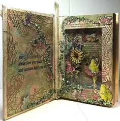 """Tutu Toad and Sir Toad in a Garden Book"" by Rhea Weigand with stamps from @Stampendous Stamps"