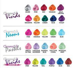 Pravana chromasilk vivids - - - pastels-neons-locked-in - jew-Hair Dye Hair Dye Colors, Cool Hair Color, Pravana Hair Color, Pravana Pastels, Hair Color Swatches, Chromasilk Vivids, Pelo Multicolor, Hair Color Formulas, Fantasy Hair
