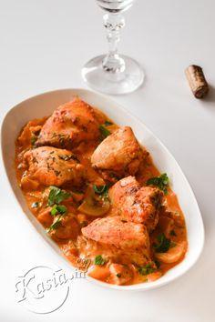 przepis na kurczak marsala Marsala, Curry, Tasty, Chicken, Ethnic Recipes, Creative, Curries, Marsala Wine, Cubs