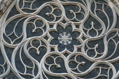 The swirls and curves of the tracery on this cathedral window - SO Italian! (Cathedral in Milan)