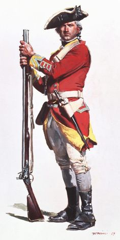 29th Regiment In pre-1768 uniforms ca. 1773- still being worn at the  time of the 'Boston Massacre'