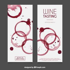 Water painting wine tasting invitation card vector - New Sites Promo Pizza, Cooking Wine Recipes, Menue Design, Wine Wallpaper, One Glass Of Wine, Different Types Of Wine, Wine Logo, Wine Painting, Banners