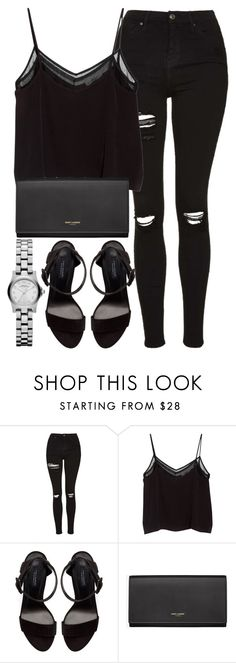 """Untitled #2674"" by elenaday on Polyvore featuring Topshop, MANGO, Zara and Yves Saint Laurent"