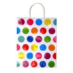 7 1/2W x 9H x 4G Medium Printed savvy polka dots Gift Bag/Case of 60