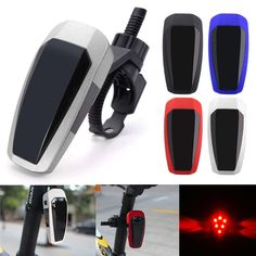 BIKIGHT 10 LED Intelligent Sensor Bicycle Brake Tail Light Safety Warning Light Rechargeable