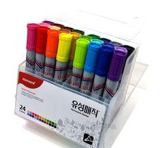 monami permanent marker 24 colors