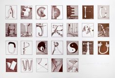 Secret Alphabet 1985 edition (sold out) Typography, Lettering, Amazing Art, Alphabet, Photo Wall, Collage, Holiday Decor, Gallery, Drawings