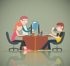 Studies say that employees that are happy in the workplace are more productive. Here are 7 workplace innovations that can increase your employees happiness. Illustrations, Flat Illustration, Character Illustration, Good Employee, Dental Services, 2d Character, Picture Design, Workplace, Vector Art