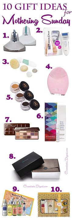 Here are ten beauty and skincare gift ideas for Mothering Sunday!