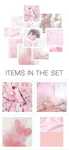 """""""{Jin Bts} Pastel Dreams"""" by muffins-and-cupcakes ❤ liked on Polyvore featuring art"""