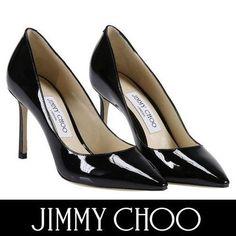 Jimmy Choo パンプス ジミーチュウ セール! ROMY 85 ベーシックなエナメルパンプス