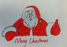 Ho Ho Ho… (yes, I'm bored at work!) (at London City Island) Bored At Work, Father Christmas, London City, Drawing Art, Sketching, Bee, Pencil, Santa, Island