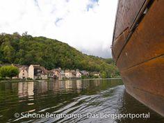"""Beaulieu-Sur-Dordorgne von einer """"Gabare"""" aus gesehen, Région Limousin, Frankreich - Foto: Mario Hübner"""