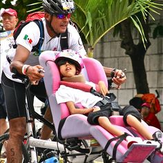 The love of a father, doing an entire 70.3 miles of Ironman Triathlon with his daughter! Inspiration.
