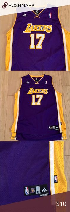 07ddb7006 Adidas NBA LA Lakers Andrew Bynum Jersey All stitched Lakers a Jersey very  good condition-