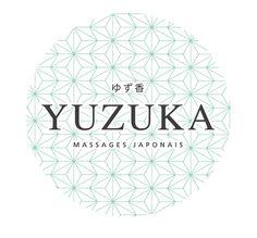 Logo du salon de massages japonais YUZUKA. Logo Bim studio. www.yuzuka.fr