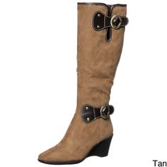 @Overstock - These cute women's wedge boots with buckle embellishments by Areosoles are a great way to add a bit of winter style to your wardrobe. The slightly padded footbed and side zipper make these boots as comfortable as they are attractive.http://www.overstock.com/Clothing-Shoes/Aerosoles-Womens-Wonderling-Wedge-Boots/6175345/product.html?CID=214117 $79.99