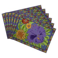 Indian Tea Placemats Set Of 6 Summer Decorations Floral Cotton Washable by ShalinCraft, http://www.amazon.co.uk/dp/B00BJ116E8/ref=cm_sw_r_pi_dp_ZyRhtb1180SMC