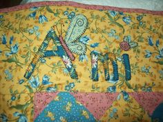 How to applique a name on a quilt tutorial.
