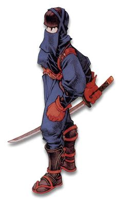 Week 16 - Final Fantasy Tactics - Concept Art Sun - Ninja Male