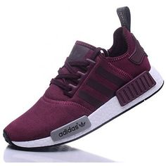 Adidas NMD R1 Cashmere skin Runner Shoes Red Wine