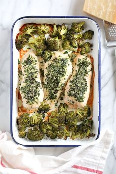 One Pan Parmesan-Crusted Chicken with Broccoli | Skinnytaste