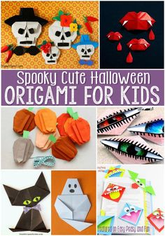 Halloween Origami for Kids. My kids love origami kids crafts. These super cute Halloween themed ideas are so fun and creative.